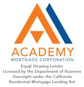 Academy Mortgage,  Licensed by the Department of B logo