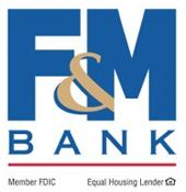 F & M Bank logo